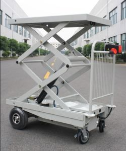 Electric Alignment Scissor Lifts Table with One Cylinder for Materials Positioning