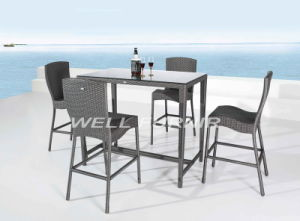 5-PC Wicker Dining Set/Bistro/Bar/Outdoor/Patio/Rattan Furniture pictures & photos
