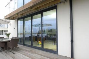 Fashion Design Glass Sliding Patio Double Glazing Door pictures & photos