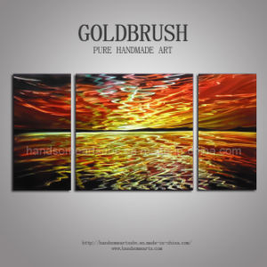 Metal Wall Art / Metal Oil Painting for Dusk Landscape pictures & photos