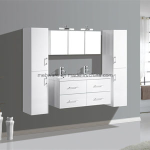 Black Modern Bathroom Vanity / MDF and Ceramic Sinks pictures & photos