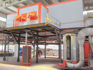 Automatic Compact Powder Coating Line for Small Size Factory pictures & photos
