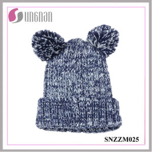 2015 Fashion Lovely Bear Ears Thick Acrylic Knitted Hats (SNZZM025) pictures & photos