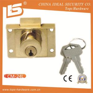 Zinc Furniture & Desk & Cabinet Drawer Lock (CM-24L) pictures & photos