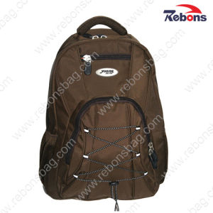 Men Brown Vintage Nylon Travel Sports Hiking Backpacks pictures & photos