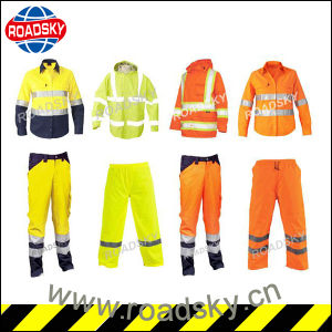 CE En471 Orange/ Green/ Yellow Anti-Fire Safety Jacket Reflective Clothes pictures & photos
