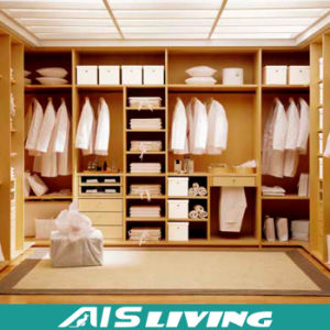 Wholesale New Wooden Wardrobe Closet Design (AIS-W008)