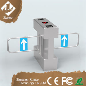 Stainless Steel Full Automatic Swing Turnstile, Half Height Optical Swing Turnstile Barrier Gate pictures & photos