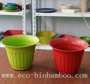 Bamboo Fiber Flower Pot (BC-F5003) pictures & photos
