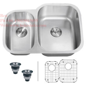Cupc Approved Stainless Steel Under Mount Double Bowl Kitchen Sink pictures & photos