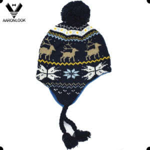 Winter Fashion Jacquard Children Earflap Hat pictures & photos