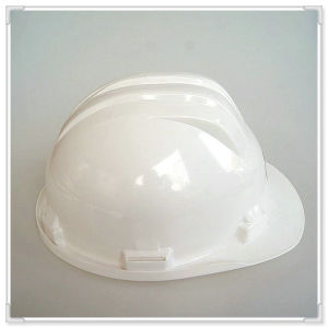White ABS/PE/HDPE Safety Work Helmet with Ce/ANSI/En/ISO Certificate with Inserting Adjustment pictures & photos