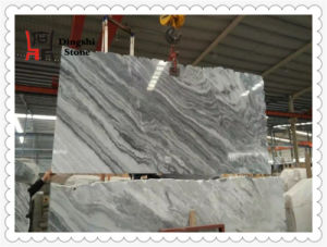 White with Grey Landscaping Veins Marble Slab From China for Wall Cladding/ Flooring pictures & photos