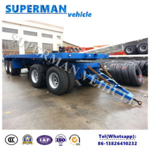8m 4 Axle Flatbed Pulling Dolly Cargo Full Semi Truck Trailer pictures & photos