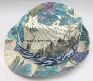 $1 Cheaper Full Printing Fedora Hats for Women with Ribbon (CPA_60234) pictures & photos