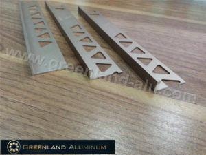 Aluminum Profiles L Shape Tile Edge Trim with Champagne Color pictures & photos
