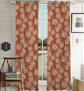 Simple Style Printed Canvas Grommet Curtain pictures & photos