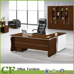Economical Panel Wood Office Executive Table with Side Cabinet pictures & photos
