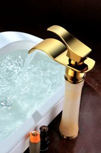 New Model Golden Color Bathroom Basin Faucet (SD-H-001A) pictures & photos