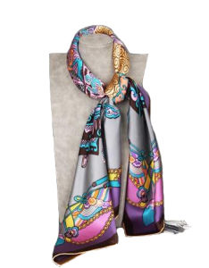 Pure Silk Luxury Fashion Women′s Stylish Silk Scarf Flaral Colorful Lady Scarf pictures & photos