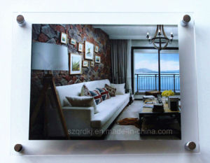 Wall-Mounted Acrylic Digital Photo Picture Frame OEM (QRD-073)