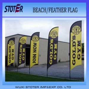 Cheap Promotion Polyester Beach /Feather Banner