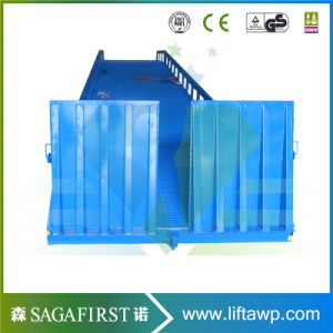 10ton 12ton 14ton Manual Hydraulic Forkllift Container Loading Ramp pictures & photos