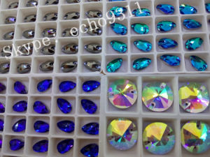 Sew on Crystal Stones 13*18mm Drop Shape Glass Stones pictures & photos