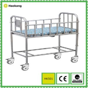 Hospital Furniture for Medical Stainless Steel Baby Stroller (HK502) pictures & photos