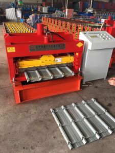 Colored Glazed Tile Roof Machines Tile Roofing Machine Ibr Roof Panel Machine Tile Sheet Making Machine Rib Sheet Forming Machine pictures & photos