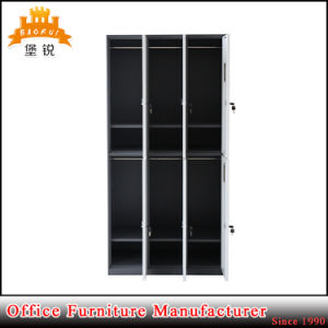 Jas-028 Europe Home Living Room Furniture Thin Edge Metal Clothes Locker Steel Wardrobe pictures & photos