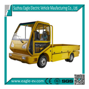 Electric Industrial Vehicle, 1500kgs Loading Capacity, with Cab and Deck, Aluminum Frame + Safety Glass Windshield pictures & photos