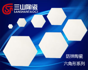 Hexagonal Alumina Bullletproof Ceramic (SSTC0049) pictures & photos