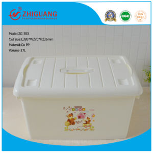 Colorful Design Plastic Storage Box with Handle pictures & photos