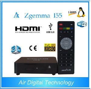 Full Channels Media Player Zgemma I55 Powerful CPU Dual Core Linux Worldwide IPTV Box pictures & photos