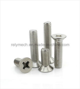 Fastener Stainless Steel Countersunk Phillip Head Screw/Flat Head Screw M4-M6 pictures & photos