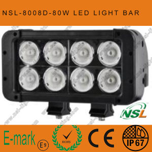 7inch 80W CREE LED Work Light Bar Double Row Offroad Light Bar pictures & photos