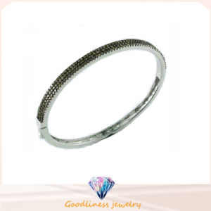 Good Quality Jewelry 3A White CZ 925 Silver Bangle (G41277C) pictures & photos