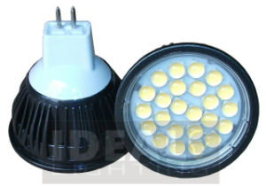 Super Bright MR16 24LED 5W Spotlight 12V Aluminum 550lm pictures & photos