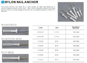 China Supplier Good Quality Low Price Nylon Nail Anchor pictures & photos