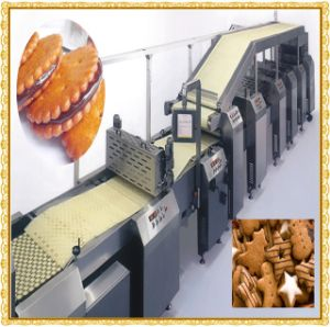 Newly Design Gas Sandwich Biscuit Production Line pictures & photos
