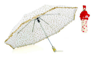 Heart Screen Print Automatic 3 Fold Umbrella (YS-3FA22083680R) pictures & photos