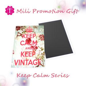 Keep Calm Series Design Square Tinplate Fridge Magnet pictures & photos