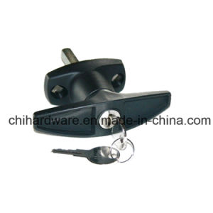 Chrome Plated T Handle Cabinet Door Handle Lock pictures & photos