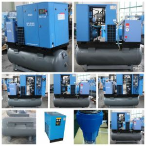 380V Slient Screw Air Compressor with Tank pictures & photos