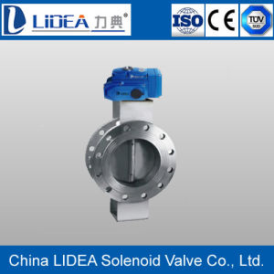 China Flange Electric Butterfly Valve with Factory Price