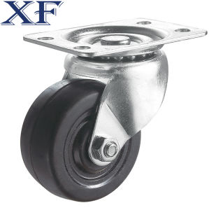Light Duty Rubber Made Black Swivel Industrial Caster pictures & photos