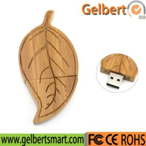 Wooden Leave USB 2.0 Flash Drive for Creative Gift pictures & photos