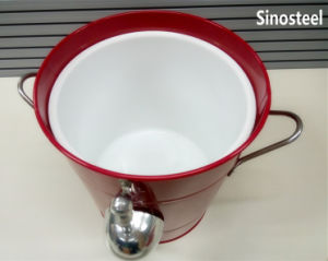 Ice Cream Machine Metal Ice Bucket with Lid & Scoop pictures & photos