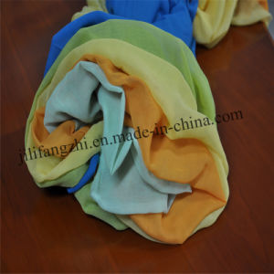 Customed Spun Polyester Printed Scarf Fabric pictures & photos